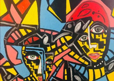Figurative Art - 20 x 20 oil in canvas $22,000