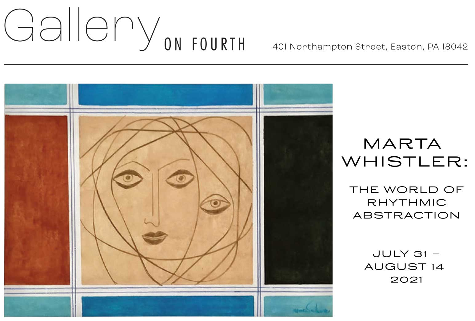Marta Whistler - Gallery On Fourth - The World of Rhythmic Abstraction